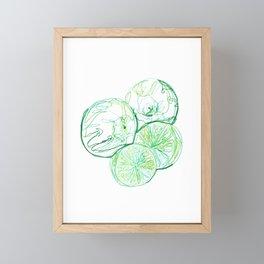 Limes  Framed Mini Art Print