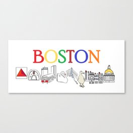 Boston sweet and simple landmarks Canvas Print