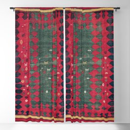Azeri Shadda  Antique South Caucasus  Azerbaijan Kilim Print Blackout Curtain