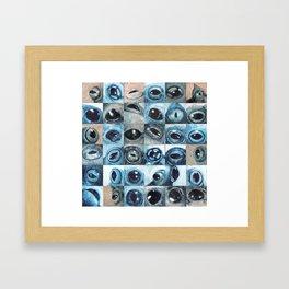 Changing eyes Framed Art Print