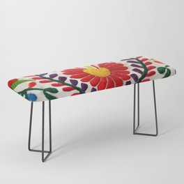 Red Mexican Flower Bench