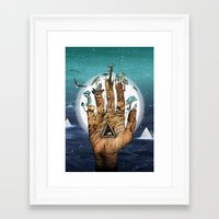 stargate Framed Art Prints featuring Stargate by Sandra Dieckmann