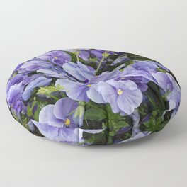 Pansy flower Floor Pillow