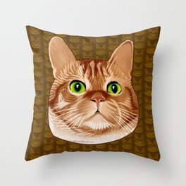 Roswell the Cat Throw Pillow