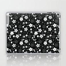 Black & White Floral Laptop & iPad Skin