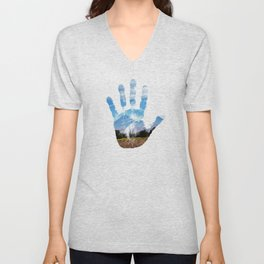 Earth Print Unisex V-Neck
