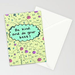 Be kind and do your best! Stationery Cards
