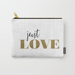 Just Love white Carry-All Pouch