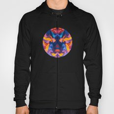 Abstract Surreal Chaos theory in Modern Blue / Orange Hoody