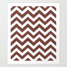 Bole - violet color - Zigzag Chevron Pattern Art Print