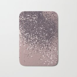 Sparkling Mauve Lady Glitter #3 #shiny #decor #art #society6 Bath Mat