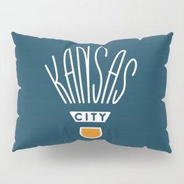 Kansas City Shuttlecock Type - White Pillow Sham