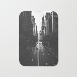 New York City (Black and White) Bath Mat