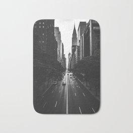 New York City (Black and White) Bath Mat