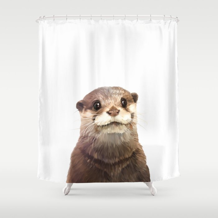 Otter Shower Curtain By Printapix