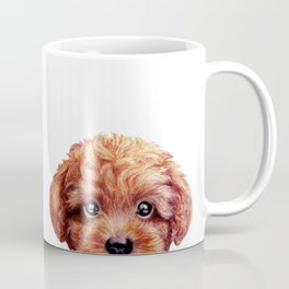 White & Reddish Brown toy poodle Coffee Mug