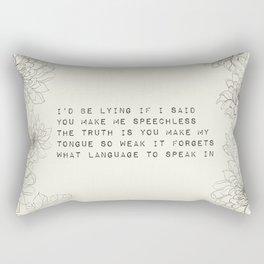 I'd be lying - R. Kaur Collection Rectangular Pillow