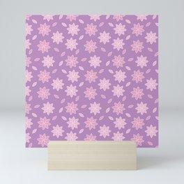 Cherry blossom pattern design Mini Art Print