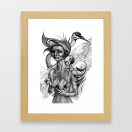 Siege of Cranes Framed Art Print