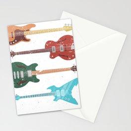 Retro Bass Guitar Stationery Cards