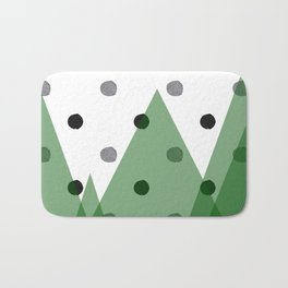 Christmas mountains Bath Mat