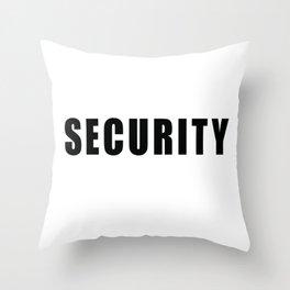 SECURITY TEE SHIRT inverse edition Throw Pillow