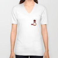mr fox V-neck T-shirts featuring Mr Fox by lemontoast