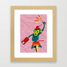 pobre chango con chacos Framed Art Print