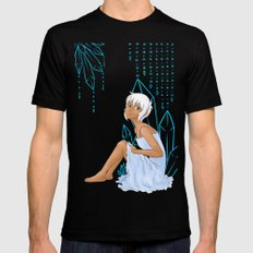 Isabelle and crystals Black Mens Fitted Tee MEDIUM