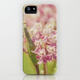 Joy in the Little Things iPhone Case