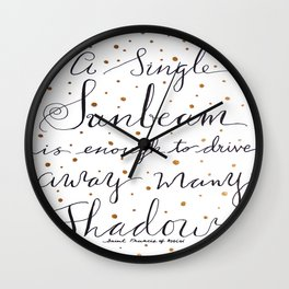 A Single Sunbeam Wall Clock