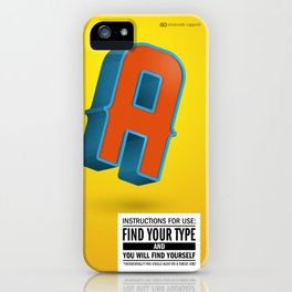 Find your TYPE iPhone Case