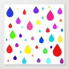 colorful raindrops Canvas Print