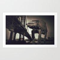 AT-AT under Manhattan Bridge Art Print