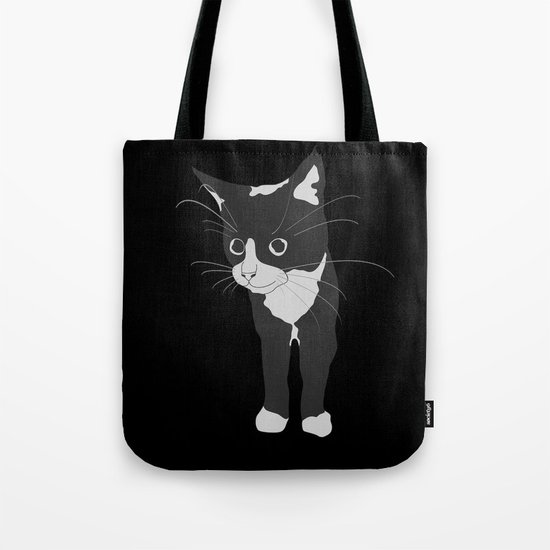 Black Kitty Tote Bag