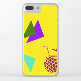 Insert Piña Colada here - Yellow Clear iPhone Case