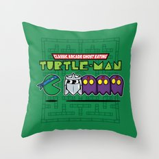 Hero in a Pac-Shell (Leo) Throw Pillow