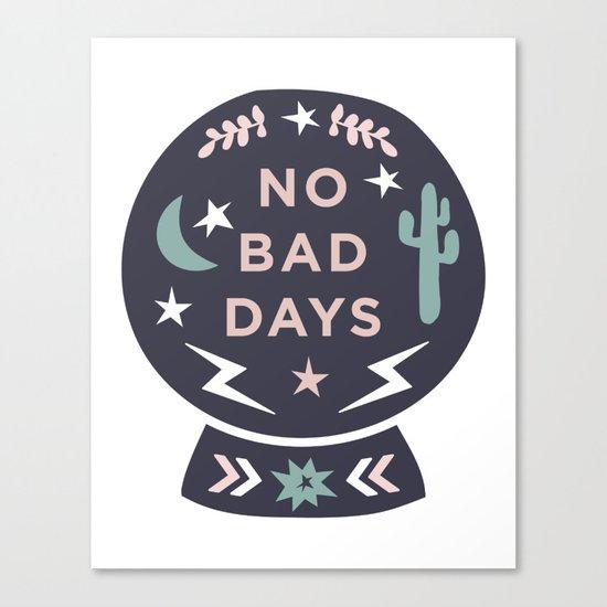 """No Bad Days"" Desert Snow Globe Minimal Print Canvas Print"
