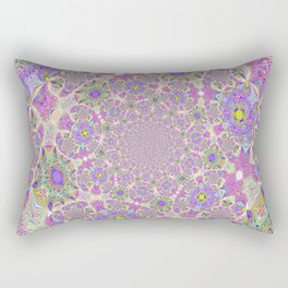 Pretty Lavender Garden Rectangular Pillow