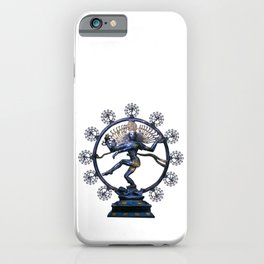 Shiva Nataraj, Lord of Dance (an actual factual fractal) iPhone Case