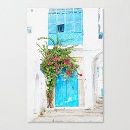 Tunisian door Canvas Print