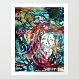 Chaotic Prose Art Print