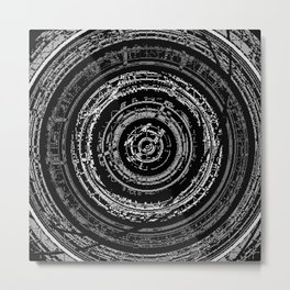 Pixelated High Frequency Metal Print