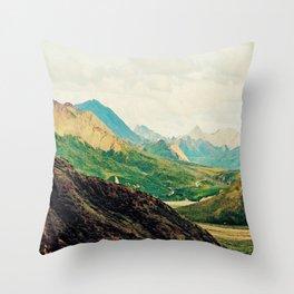Denali Mountains Throw Pillow
