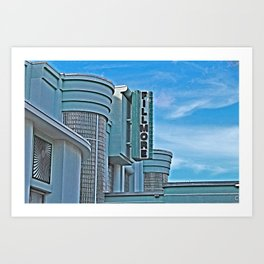 Vintage Movie Theater Art Print