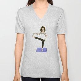 Yoga Folks. Balancing Pose.   Unisex V-Neck