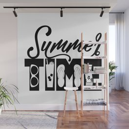 Summer TIME at the Beach Wall Mural