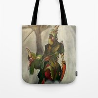 warhammer Tote Bags featuring Loyal to the Lord by Dana Craig