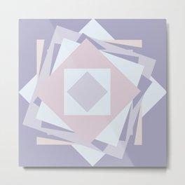 When stickies pile up like blooming rose... Metal Print