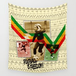 Football is freedom Wall Tapestry